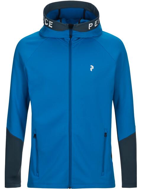 Peak Performance M's Rider Zip Hood Blue Bird